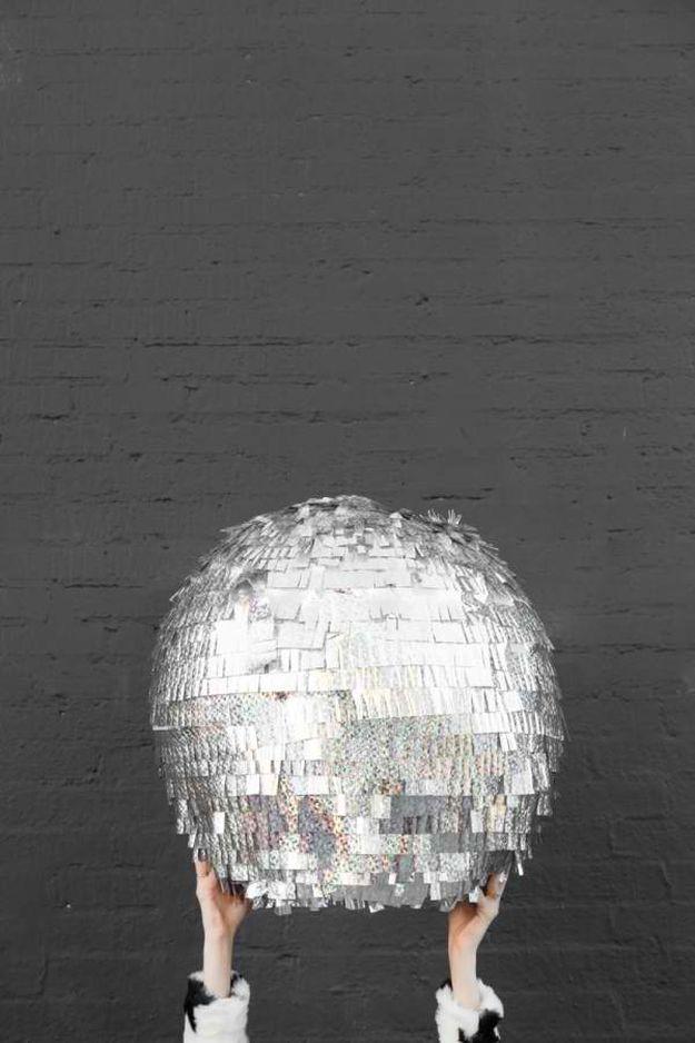 DIY Disco Ball Pinata | DIY Teen Room Decor Projects