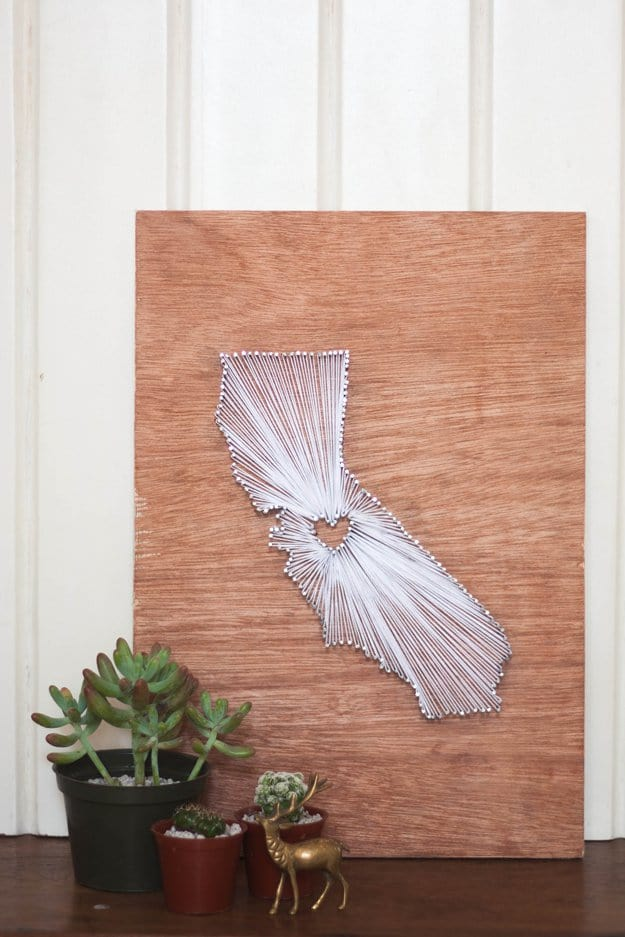 DIY String Art | DIY Teen Room Decor Projects