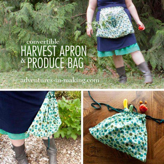 Convertible Harvest Apron And Produce Bag | Easy Crafts To Make And Sell