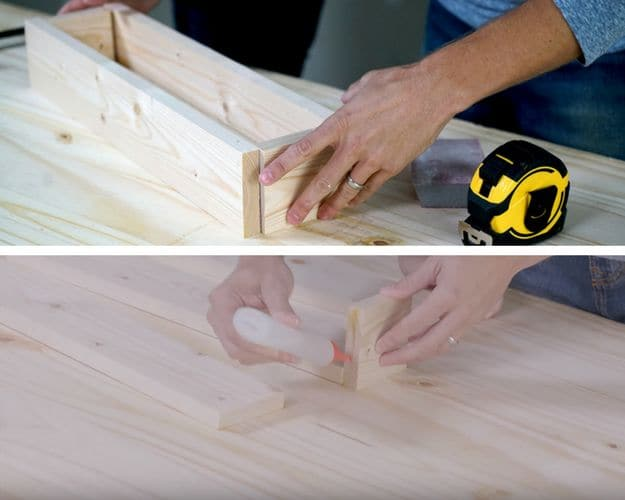 Step 2: Assemble The Box | Young House Love Must-Try DIY | Rustic Centerpiece Box