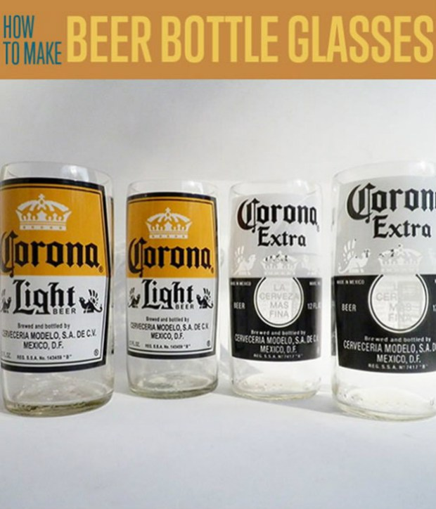 Beer bottle glasses | Cool DIY Father's Day Gift Ideas