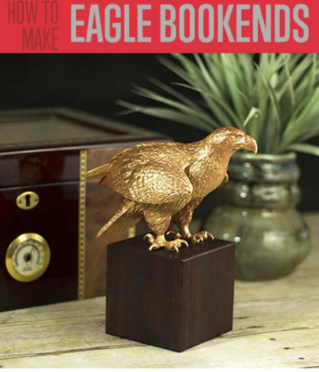 Faux Copper Eagle Bookends | Cool DIY Father's Day Gift Ideas