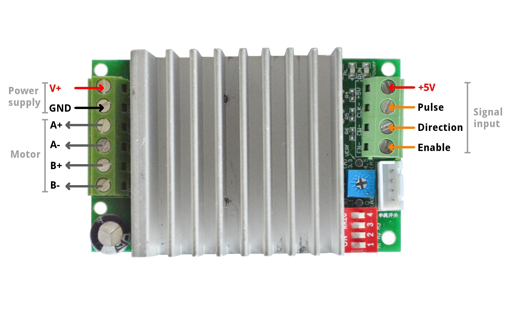 hight resolution of wiring tb6600 4 5a drive input output diagram