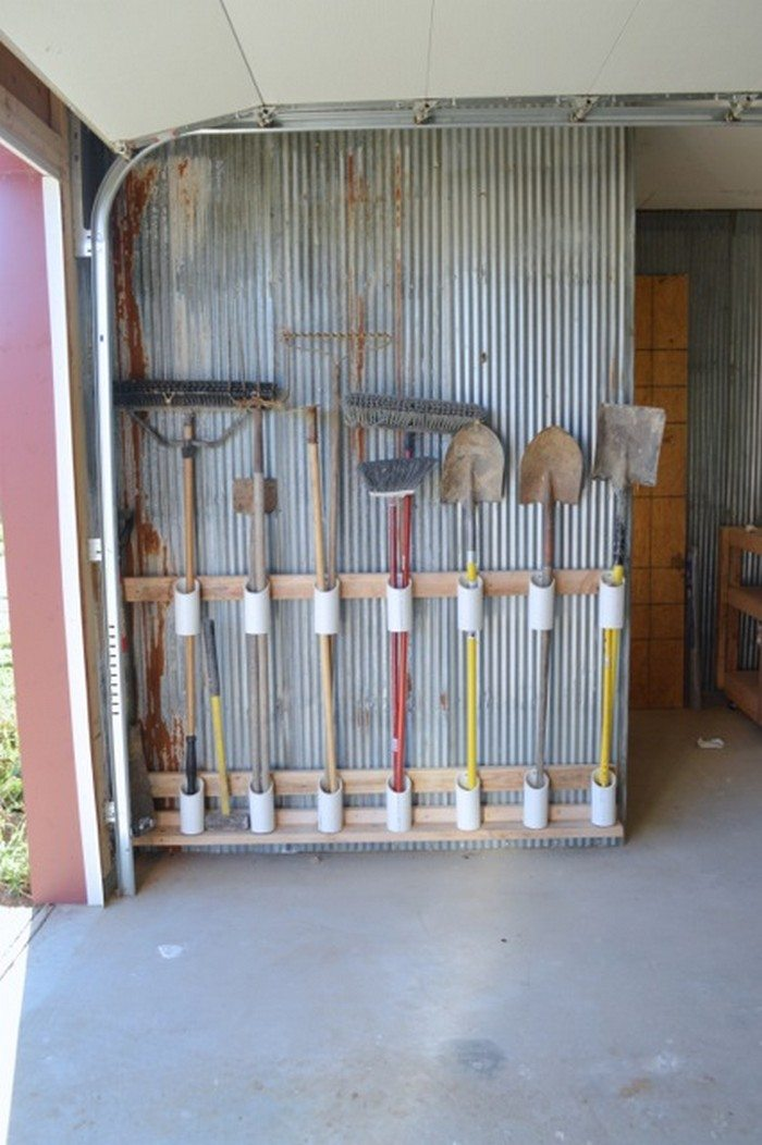 Build a yard tool organizer from PVC  DIY projects for everyone