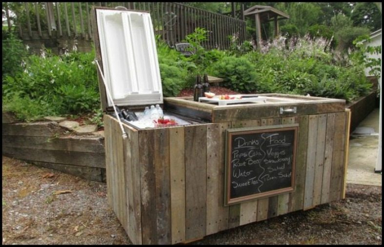 Rustic Fridge Cooler Main Image