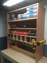 Cordless drill storage and charging station   DIY projects ...