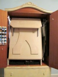 French Armoire Sewing Cabinet | DIY projects for everyone!