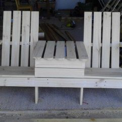 Building An Adirondack Chair Quilted Cushions Build A Double Bench With Table   Diy Projects For Everyone!