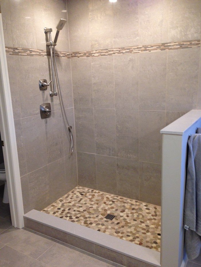 Revamp your bathroom with a pebble shower floor  DIY