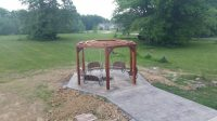 How to build a hexagonal swing with sunken fire pit   DIY ...