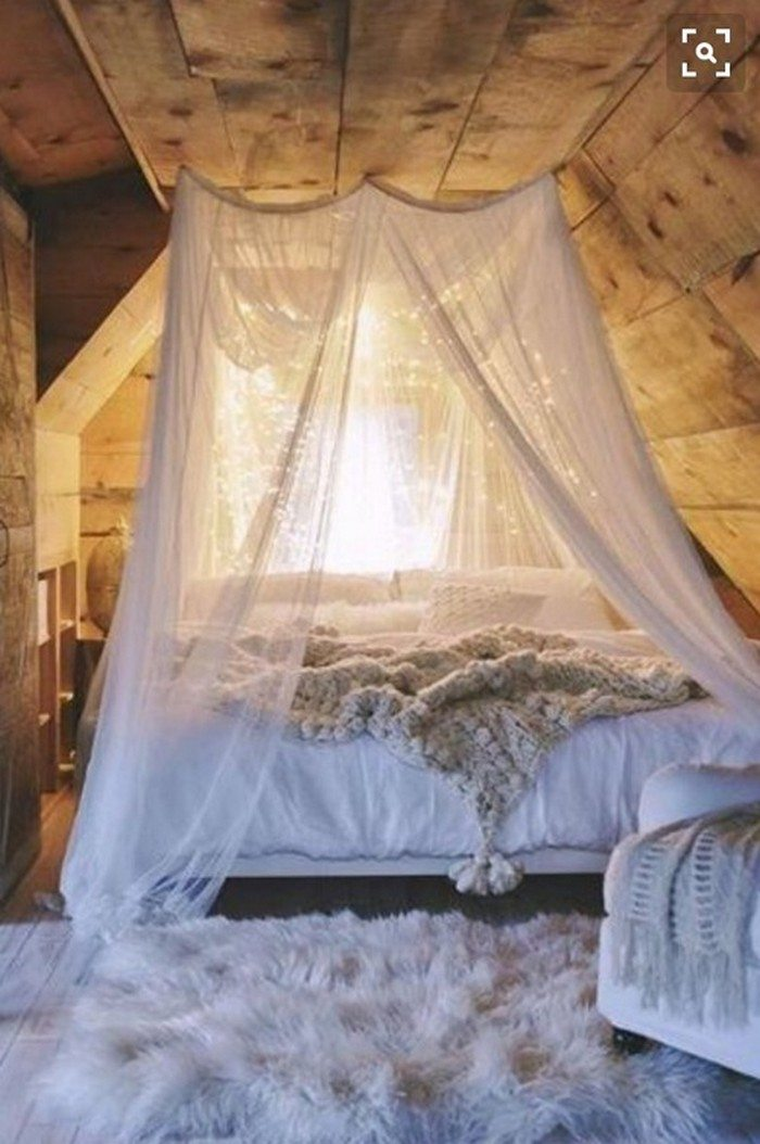 make a magical bed canopy with lights