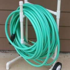 Folding Chair Rack Diy Retro High Build A Garden Hose Storage With Planter! | Projects For Everyone!