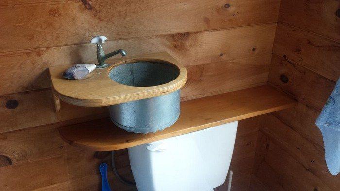 a toilet tank sink diy projects