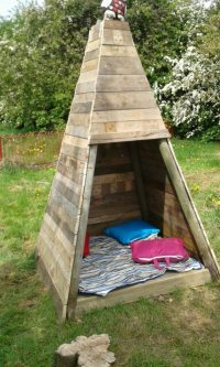Build your kids a wooden teepee tent! | DIY projects for ...