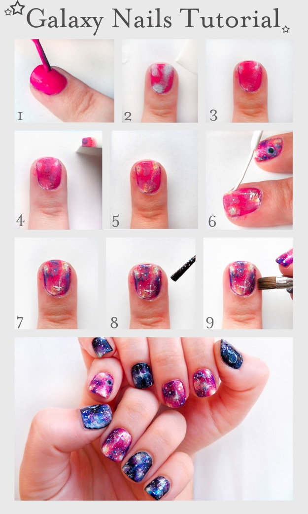 Nails Art Easy Pink Nail Design 4 Short Beginners Tutorial