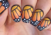 diy monarch butterfly nail art