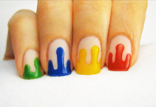 Awesome Dripping Paint Nail Art