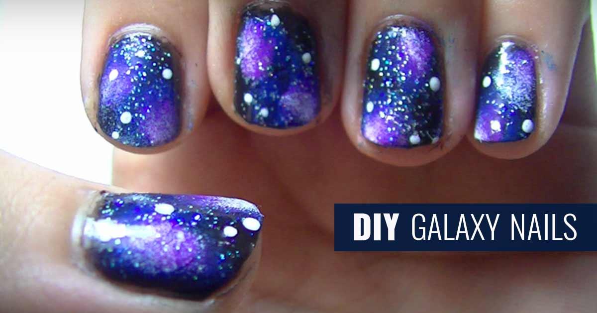 Diy Galaxy Nails
