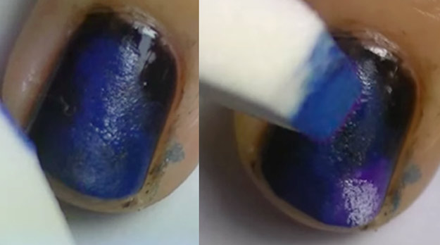 Ombré Nails Are Easily Done With A Makeup Sponge Scroll For More