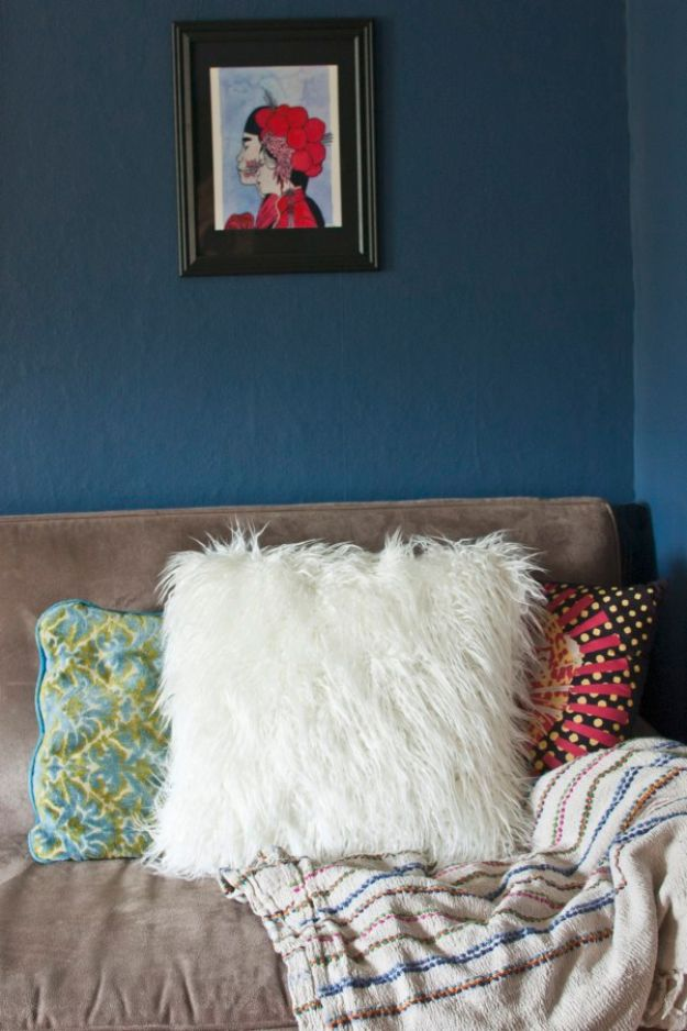 Diy Room Decor Ideas For S Faux Fur Throw Pillow Cool Bedroom