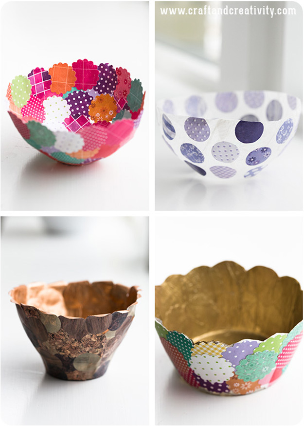 Cool Diy Ideas For Fun And Easy Crafts Paper Bowls Make