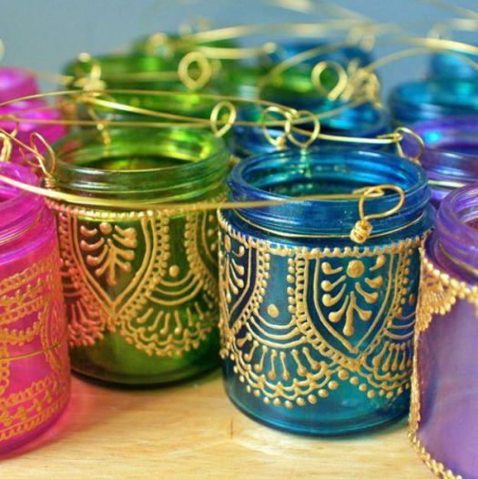 Cute Diy Mason Jar Ideas Hand Painted Lanterns Fun Crafts Creative