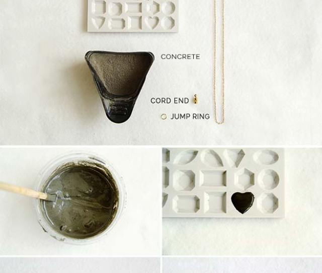 Best Diy Ideas From Tumblr Diy Concrete Love Heart Necklace Crafts And Diy Projects