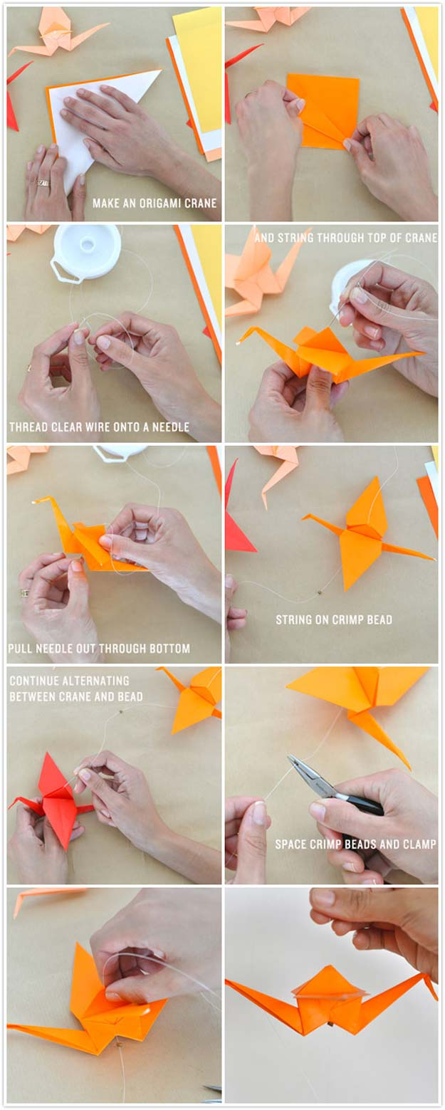star flower origami diagram kia rio 2004 stereo wiring 40 best diy projects to keep your entertained today tutorials ombre crane garland easy tutorial for with instructions