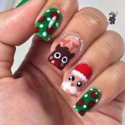 creative holiday nail art patterns