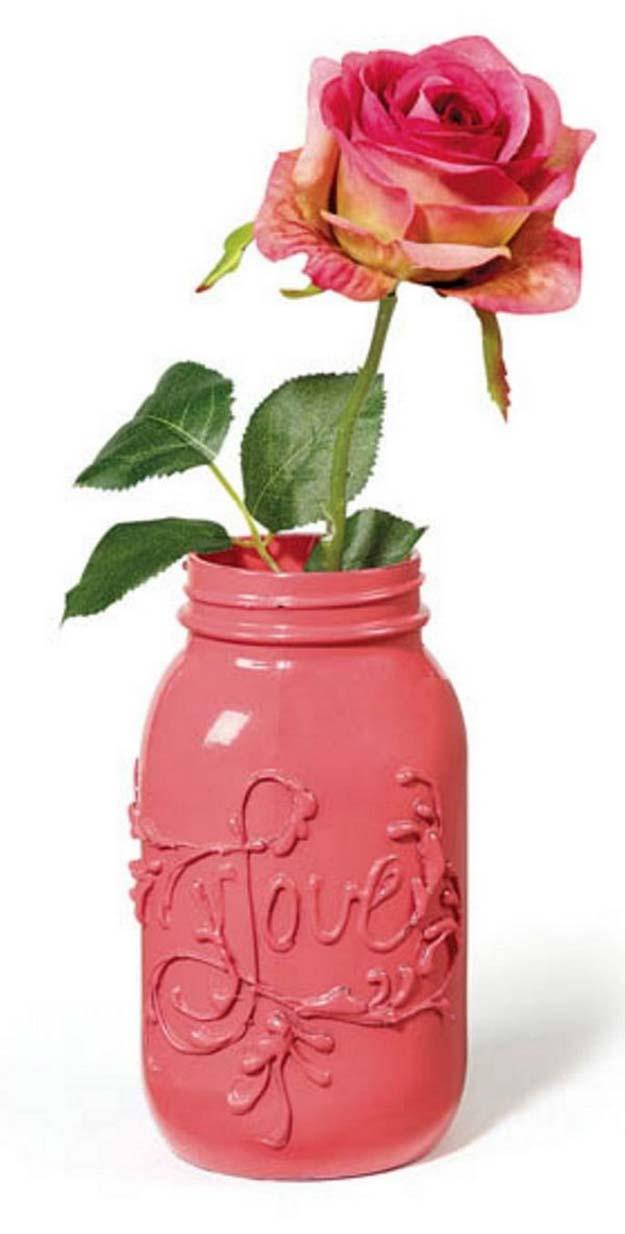 34 Mason Jar Valentine Crafts