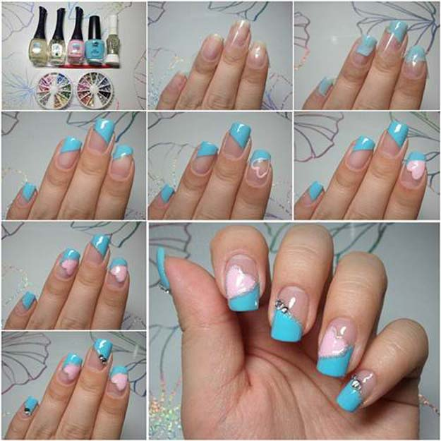 Valentine Nail Art Ideas How To Make Pretty Heart Shaped Cute And