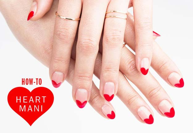 Ikat Hearts 20 Ridiculously Cute Valentine S Day Nail Art Designs