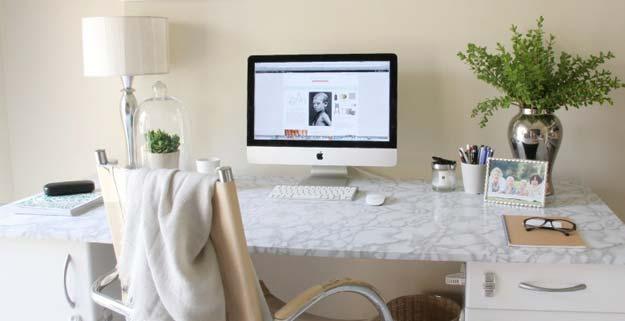 tufted desk chair light oak kitchen chairs all white diy room decor