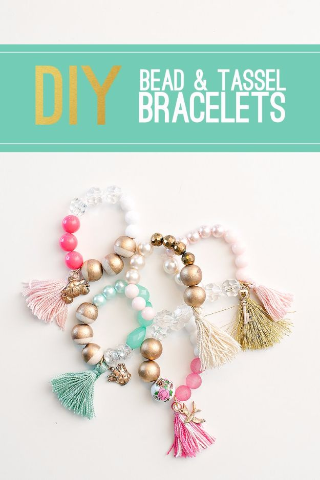 Cool Summer Fashions for Teens - DIY Bead And Tassel Bracelets - Easy Sewing Projects and No Sew Crafts for Fun Fashion for Teenagers - DIY Clothes, Shoes and Accessories for Summertime Looks - Cheap and Creative Ways to Dress on A Budget http://diyprojectsforteens.com/diy-summer-fashion-teens