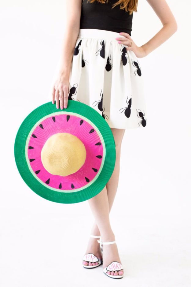 Cool Summer Fashions for Teens - DIY Watermelon Floppy Hat - Easy Sewing Projects and No Sew Crafts for Fun Fashion for Teenagers - DIY Clothes, Shoes and Accessories for Summertime Looks - Cheap and Creative Ways to Dress on A Budget http://diyprojectsforteens.com/diy-summer-fashion-teens