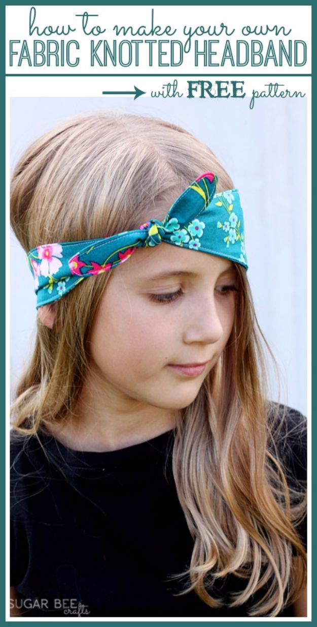 Cool Summer Fashions for Teens - Fabric Knotted Headbands - Easy Sewing Projects and No Sew Crafts for Fun Fashion for Teenagers - DIY Clothes, Shoes and Accessories for Summertime Looks - Cheap and Creative Ways to Dress on A Budget http://diyprojectsforteens.com/diy-summer-fashion-teens