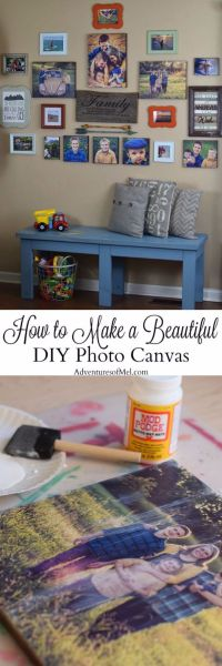 Beautiful DIY Photo Canvas - DIY Projects for Teens