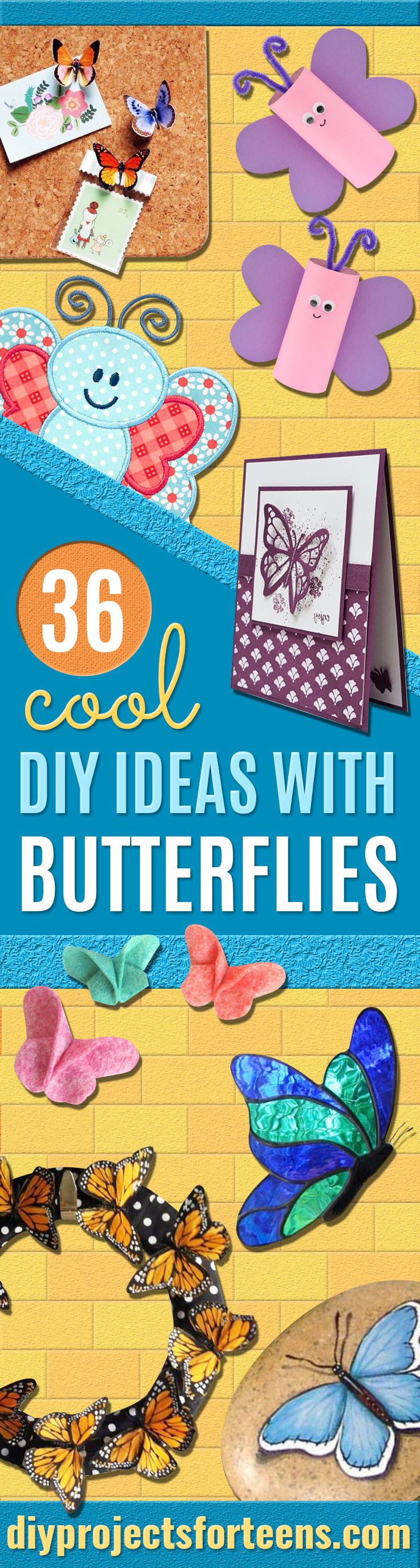 DIY Ideas With Butterflies - Cute and Easy DIY Projects for Butterfly Lovers - Wall and Home Decor Projects, Things To Make and Sell on Etsy - Quick Gifts to Make for Friends and Family - Homemade No Sew Projects- Fun Jewelry, Cool Clothes and Accessories #diyideas #butterflies