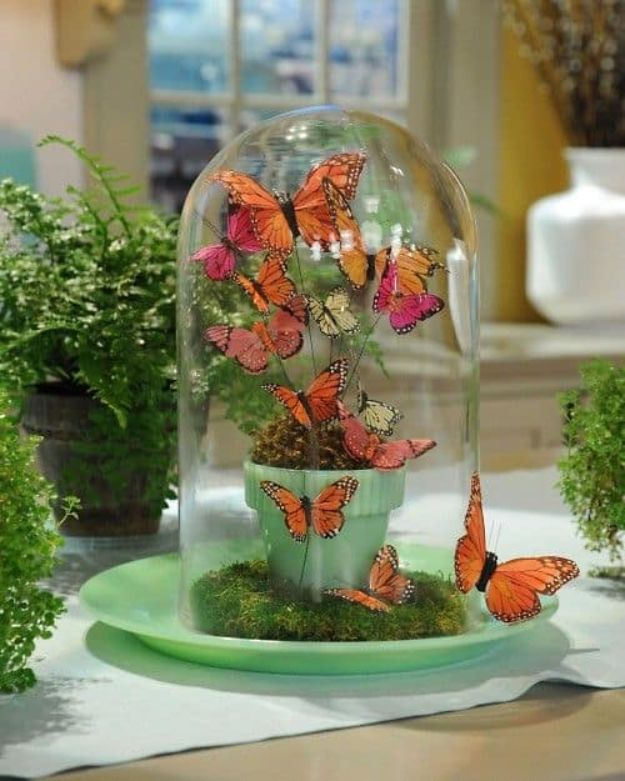 DIY Ideas With Butterflies - Butterfly Glass Jars - Cute and Easy DIY Projects for Butterfly Lovers - Wall and Home Decor Projects, Things To Make and Sell on Etsy - Quick Gifts to Make for Friends and Family - Homemade No Sew Projects- Fun Jewelry, Cool Clothes and Accessories #diyideas #butterflies #teencrafts