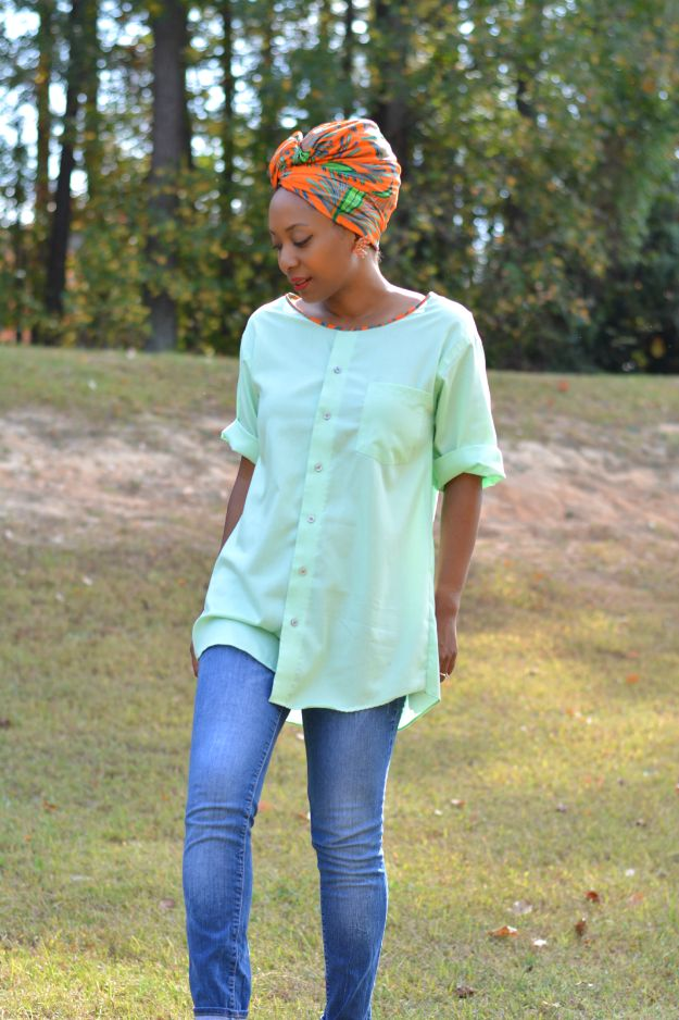 DIY Ideas With Old T-shirts - Men's Shirt To Tunic Top - Tshirt Makeovers and Transformation Ideas for Tee Shirts - DIY Clothes to Make On A Budgert - Creative and Easy Fashion Ideas for Teen Girls, Teenagers, Adults - Cut and Refashion Your Shirts With These Step by Step Tutorials #teencrafts #tshirtideas #diyclothes #fashion #crafts