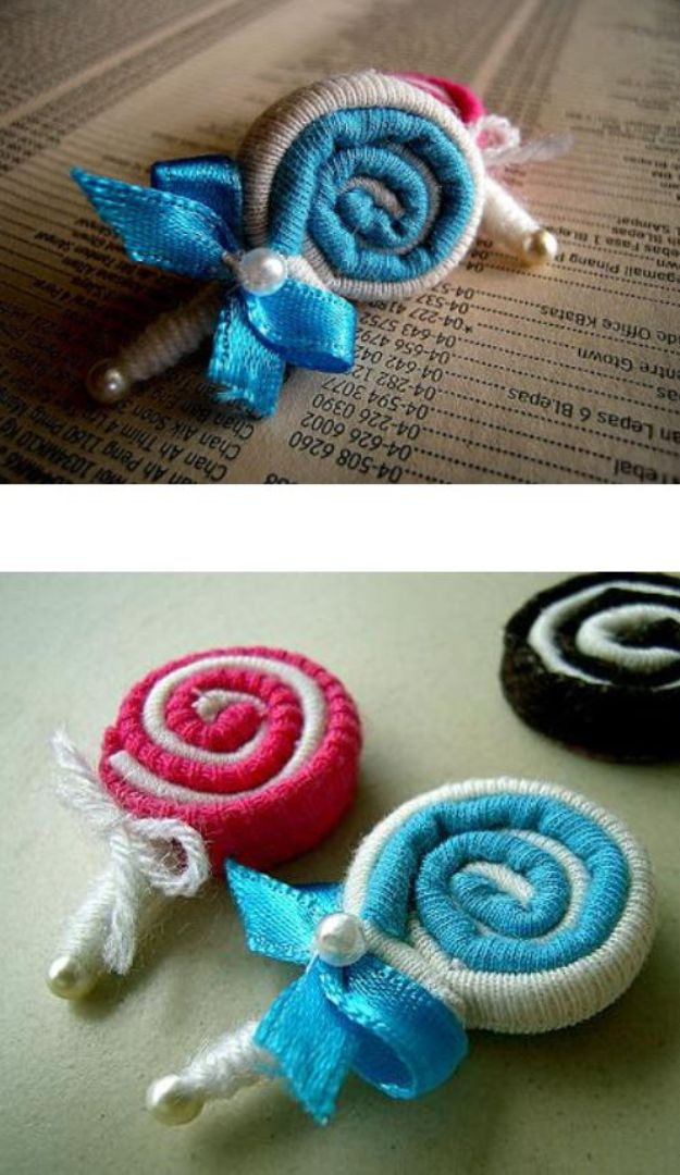 DIY Ideas With Old T-shirts - Old Shirt Lollipops - Tshirt Makeovers and Transformation Ideas for Tee Shirts - DIY Clothes to Make On A Budgert - Creative and Easy Fashion Ideas for Teen Girls, Teenagers, Adults - Cut and Refashion Your Shirts With These Step by Step Tutorials #teencrafts #tshirtideas #diyclothes #fashion #crafts