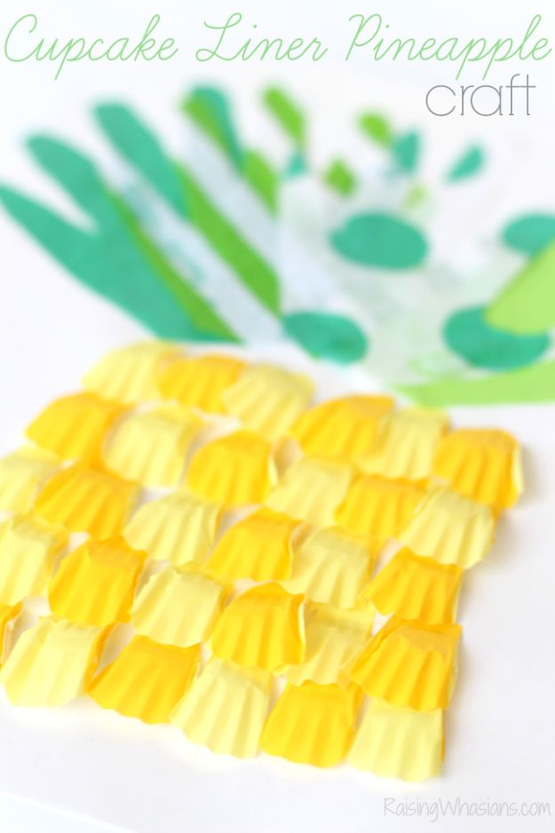 Pineapple Crafts - Cupcake Liner Pineapple Craft - Leuke knutselprojecten die coole doe-het-zelf geschenken maken - wanddecor, slaapkamerkunst, sieradenidee