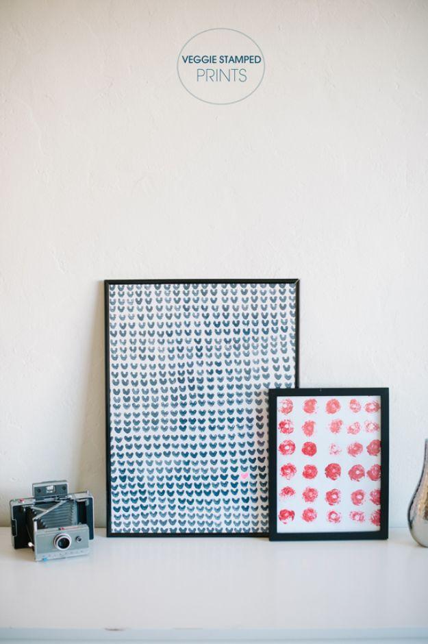 DIY Wall Art Ideas for Teens - Celery Stamped Art Prints - Teen Boy and Girl Bedroom Wall Decor Ideas - Goedkope canvas schilderijen en wandkleden voor kamerdecoratie