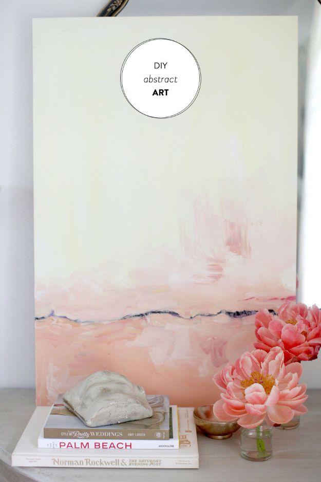 DIY Wall Art Ideas for Teens - DIY Abstract Art - Teen Boy and Girl Bedroom Wall Decor Ideas - Goedkope canvas schilderijen en wandkleden voor kamerdecoratie