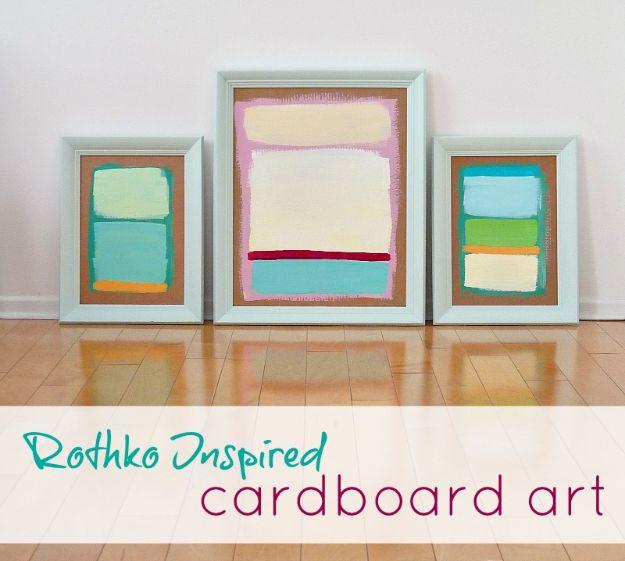 DIY Wall Art Ideas for Teens - DIY Rothko Inspired Wall Art - Teen Boy and Girl Bedroom Wall Decor Ideas - Goedkope canvas schilderijen en wandkleden voor kamerdecoratie