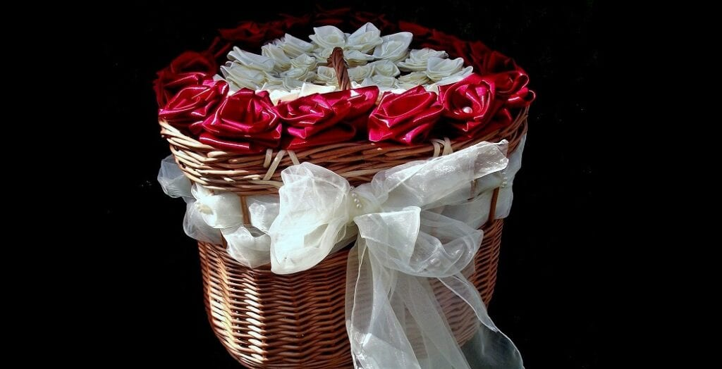 How to Decorate a Basket With Ribbon