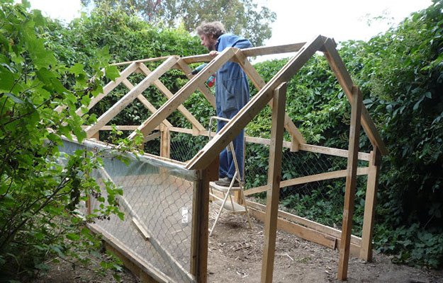 how to build a pallet greenhouse