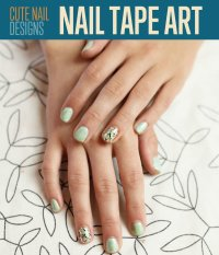 Cute Nail designs | Easy Nail Tape Art - DIY Ready