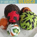 How to make diy fabric wrapped styrofoam balls for home decor projects