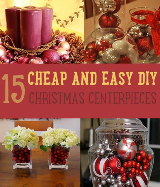 15 Cheap and Easy DIY Christmas Centerpieces | Christmas Centerpiece Ideas